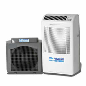 PAC 14 portable air conditioner 4kW Angle View
