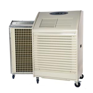 PAC 60 Series 3 portable air conditioner 17kW Angle View