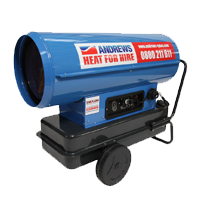 Direct fired oil heaters
