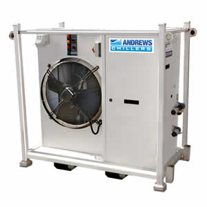 30kW Fluid Chiller Angle View