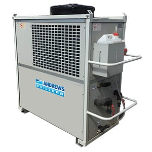 30kW HP Fluid Chiller Angle View