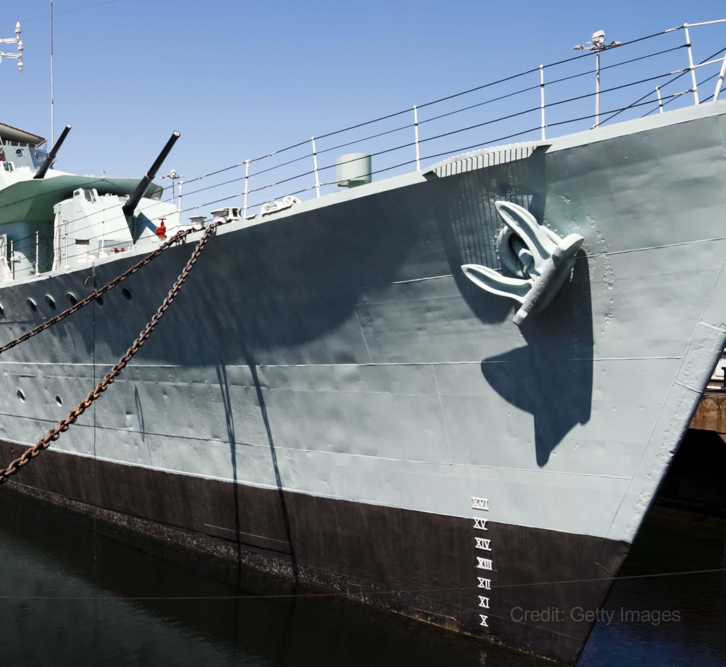 Historic warship undergoes major refit courtesy of Sykes Pumps