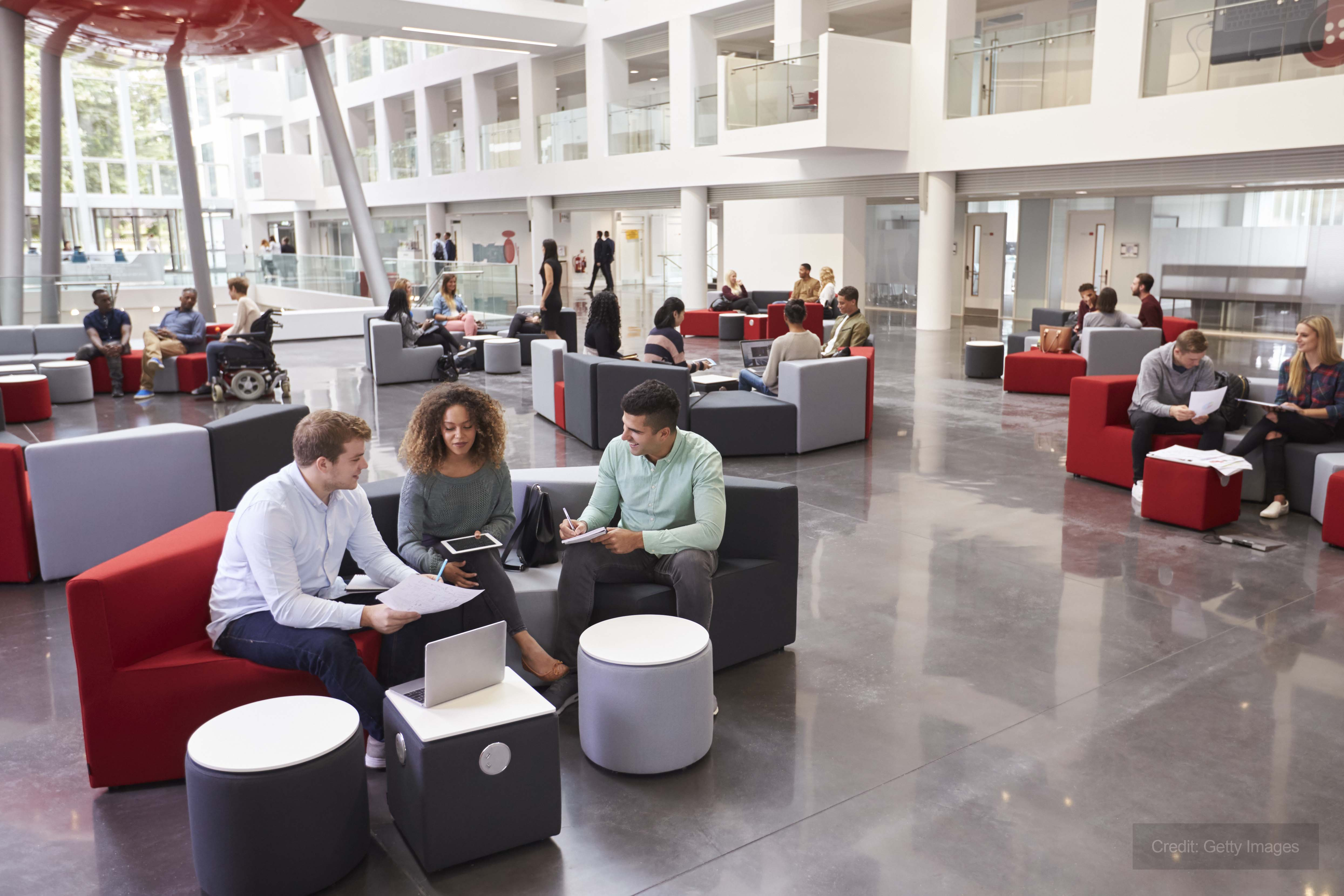 University campus provided with temporary heating and hot water