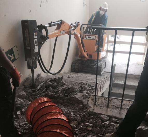 Local newsroom requires ventilation for underground demolition