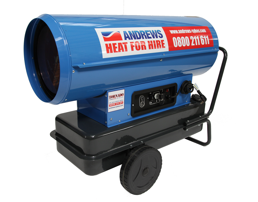Andrews Heat for Hire unveil new high capacity direct-fired unit