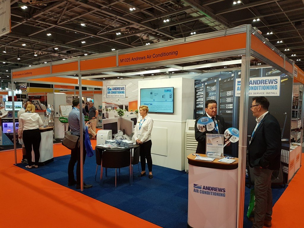 Andrews Air Conditioning the go to stand at the Facilities Show 2017 amidst soaring temperatures