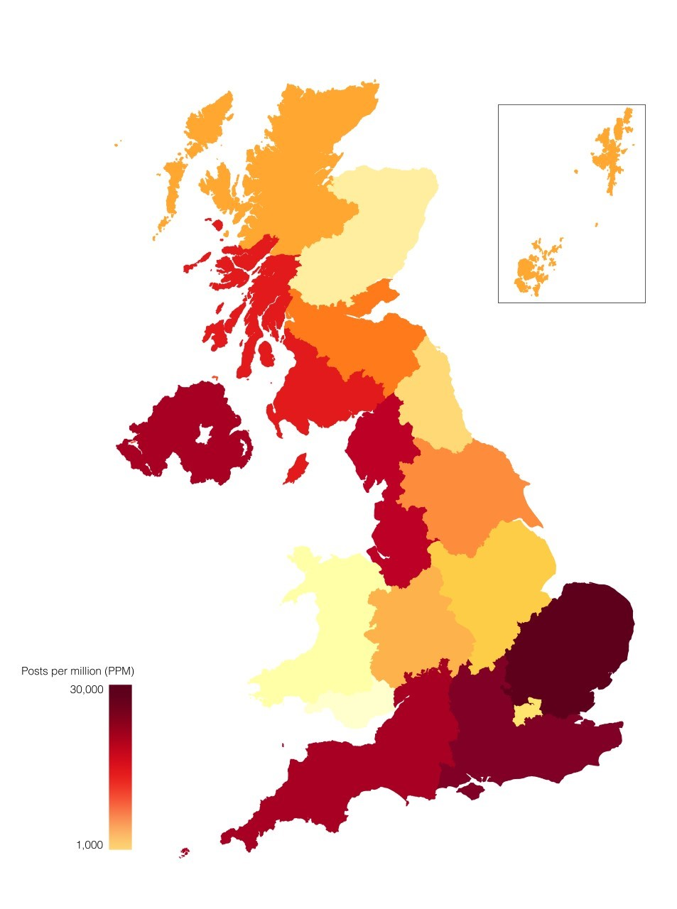 Heat map showing concentration of complaints on illness in 2016