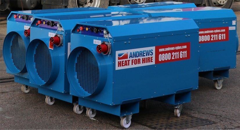 Electric heaters for large London event