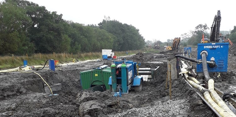 Sykes Pumps provides dewatering  solution for water main project