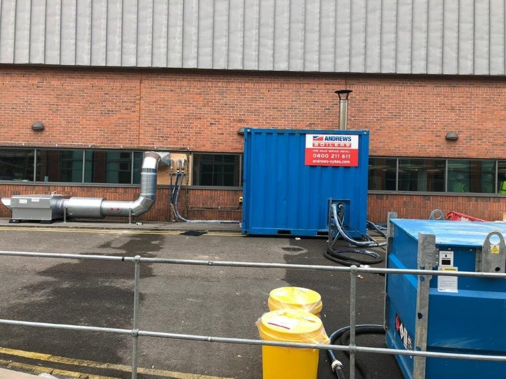 Emergency boiler hire provides safe showering facilities at Nightingale hospital
