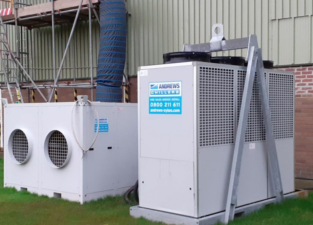 Leisure facility reopens on time thanks to swift chiller hire