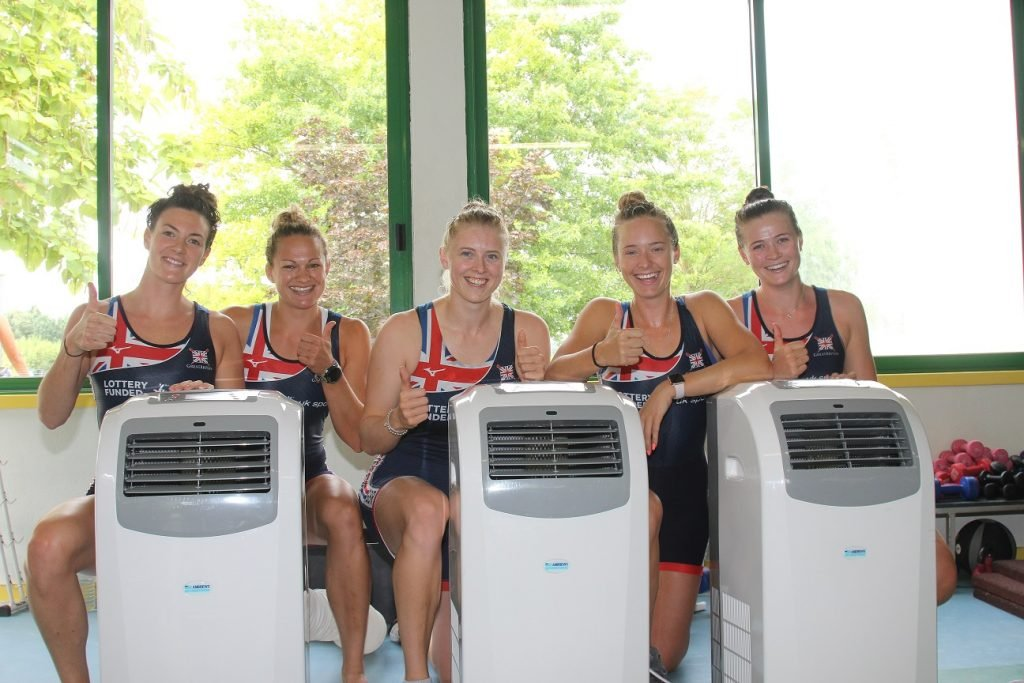 GB Rowing Team kept cool by Andrews during World Championship preparation