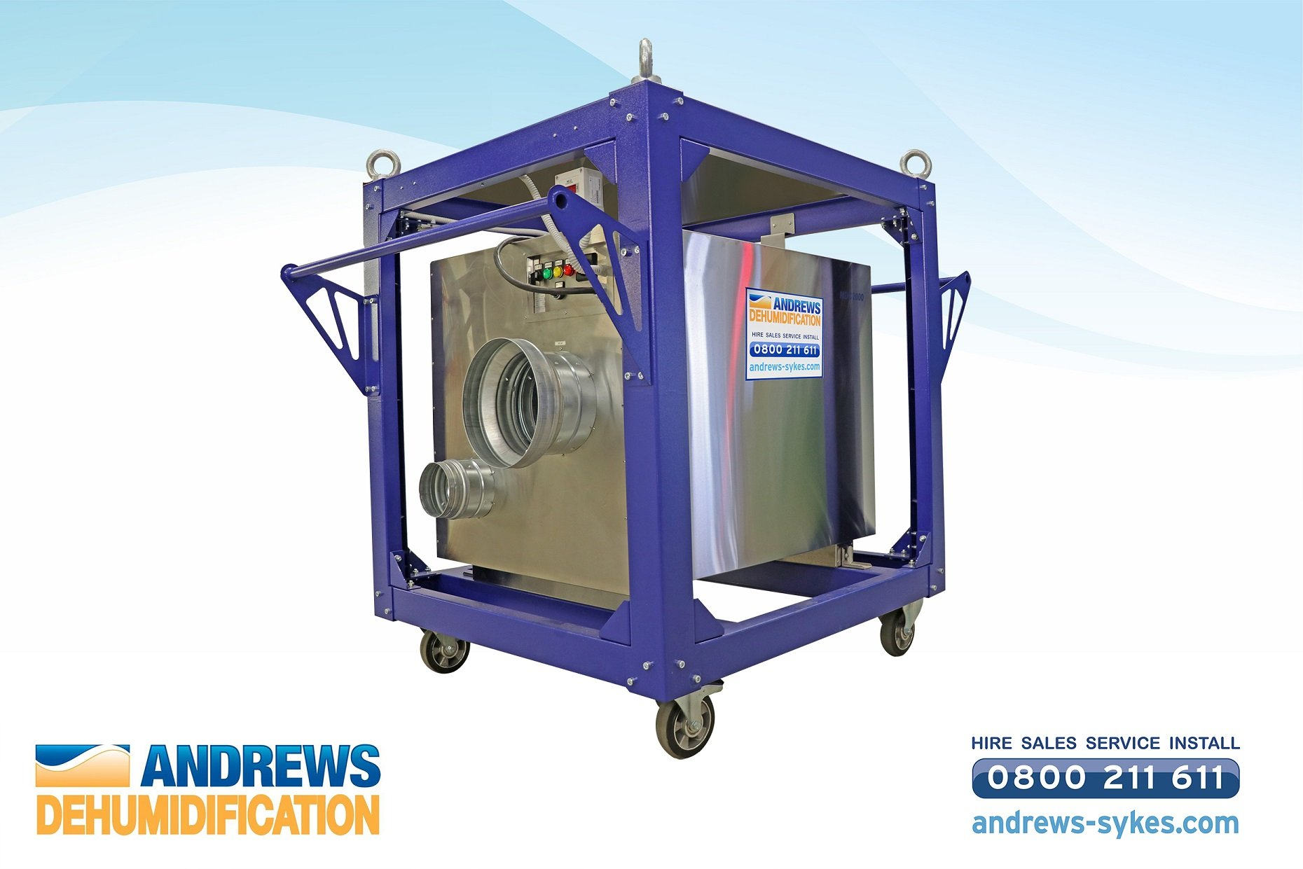 Andrews expands dehumidifier hire range with cost-effective desiccant unit