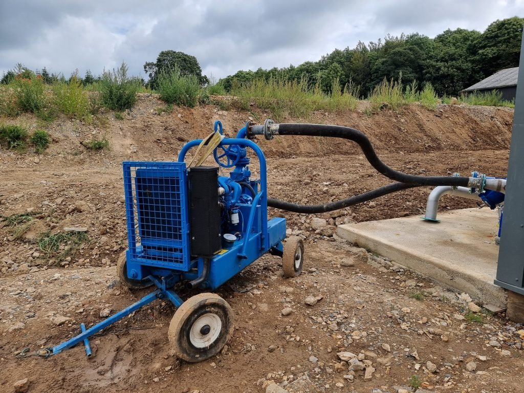 Sykes conducts pipe flushing for new biomass heating system