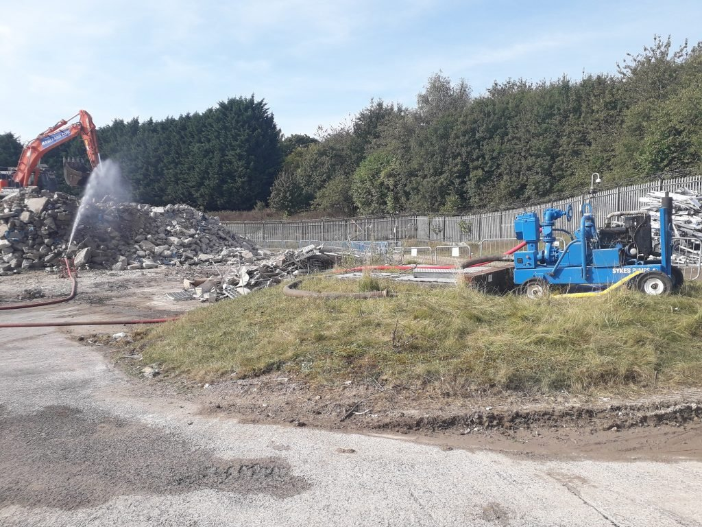 Wiltshire-based demolition contractor requires pumps for dust suppression