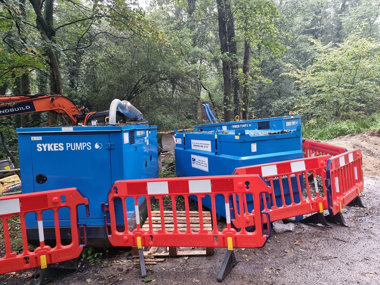 Sykes installs over-pump arrangement to facilitate vital repair works